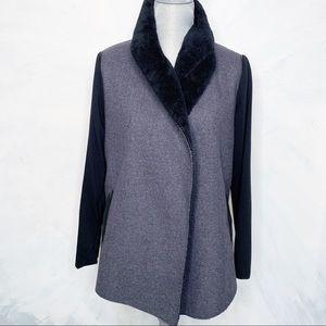 Splendid Sweaters - Splendid Open Faux Fur Cardigan  Sweater Jacket